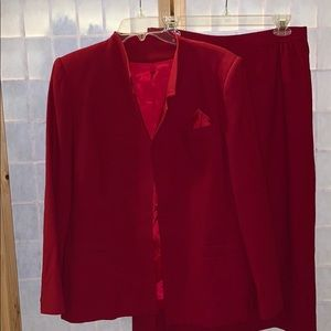 Jacobson's ruby red 2-pc skirt set